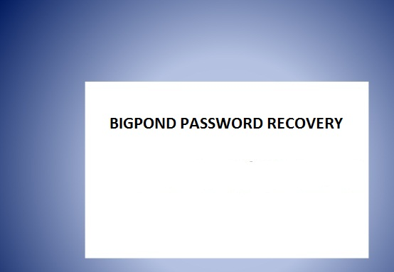 bigpond password recovery